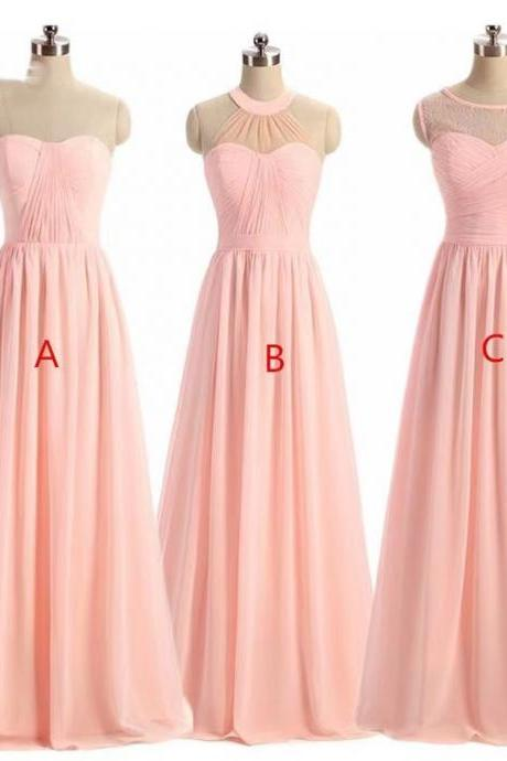 Bridesmaid Dresses, New Spring Long Sisterhood Flower Dresses, Sisterhood Evening Dresses,Custom Made