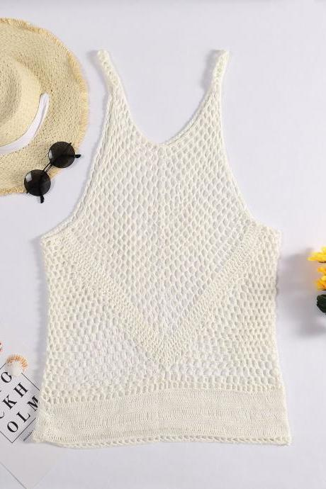 Bathing suits, beach vests, Sun screens, white tank top,bikini cover up