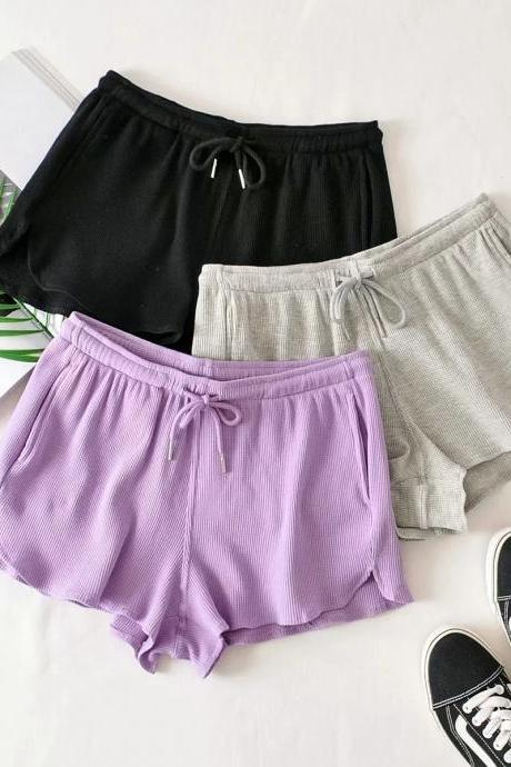 Spring and summer new style, casual home shorts, INS fashion, elastic waist, sports yoga hot pants