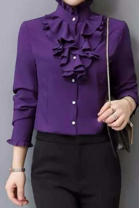 New Blouses, Long Sleeved Blouses, OL Collars, Offices