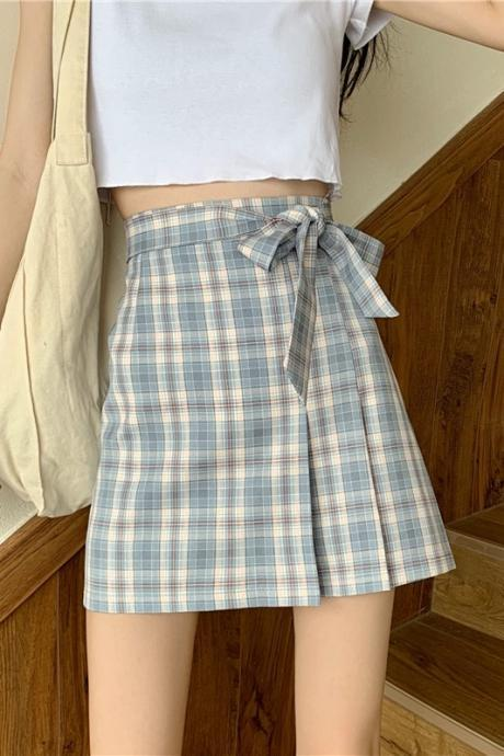 Bowknot skirt, A-line skirt with high waist, summer irregular skirt, hip wrap skirt