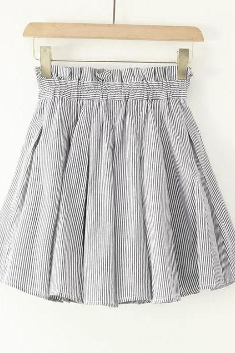 Exported to Japan single, new style, high waist skirt pleated skirt, spring and summer, cotton A-line skirt, JK umbrella skirt preppy skirt